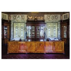 Cartolina Reggia di Caserta - La Biblioteca Palatina. Prima Sala.