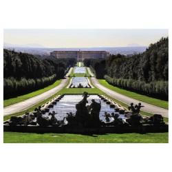 Cartolina Reggia di Caserta - Veduta d`insieme della Reggia e Il Parco.