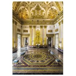 Cartolina Reggia di Caserta - La sala del trono.