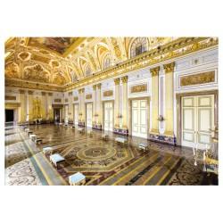 Cartolina Reggia di Caserta - La sala del Trono. Veduta d`insieme.
