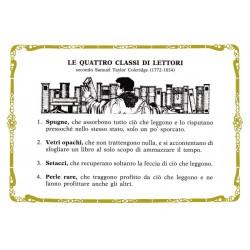 CARTOLINA COLONNESE LE QUATTRO CLASSI DI LETTORI