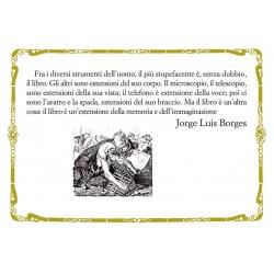 CARTOLINA COLONNESE BORGES IL LIBRO