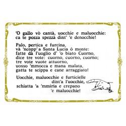 CARTOLINA COLONNESE ORAZIONE CONTRO IL MALOCCHIO