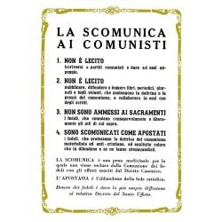 CARTOLINA COLONNESE LA SCOMUNICA AI COMUNISTI