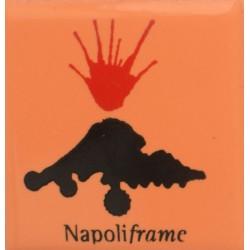 Magnete Ceramico Napoli - Vesuvio Arancio