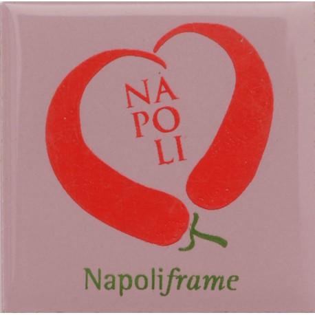 Magnete Ceramico Napoli - Cerasielli a Cuore Lavanda