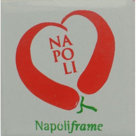Magnete Ceramico Napoli - Cerasielli a Cuore Grigio