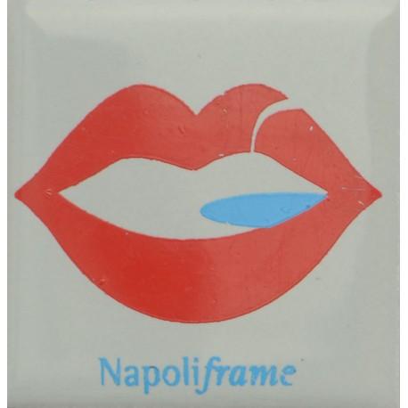 Magnete Ceramico Napoli - Bacio Golfo Grigio