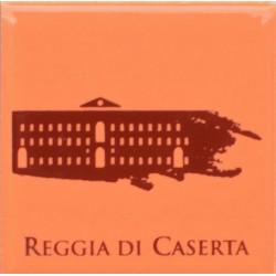 Magnete Ceramico Reggia di Caserta - Stilizzato sfumato arancio