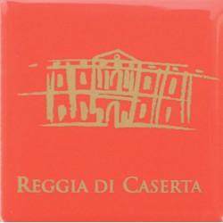 Magnete Ceramico Reggia di Caserta - Stilizzato fumetto rosso