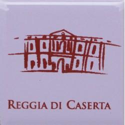 Magnete Ceramico Reggia di Caserta - Stilizzato fumetto lavanda
