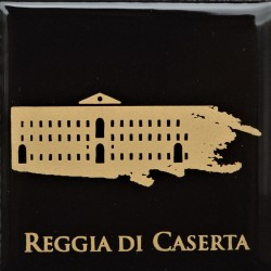 Magnete Ceramico Reggia di Caserta - Stilizzato sfumato nero