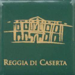 Magnete Ceramico Reggia di Caserta - Stilizzato fumetto verde