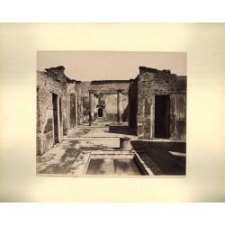 Casa del Poeta, Pompei. Fotografia d`epoca, fine `800