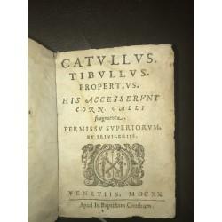 Catullus Tibullus Propertius