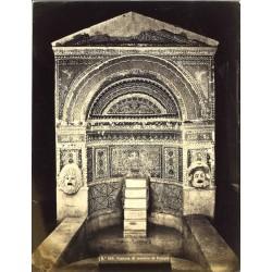 Fontana di mosaico di Pompei - Fotografia originale d`epoca fine `800