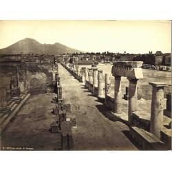 Foro civile di Pompei - Fotografia originale in albumina originale d`epoca, fine `800
