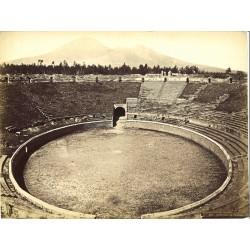Anfiteatro di Pompei - Fotografia originale d`epoca, fine `800