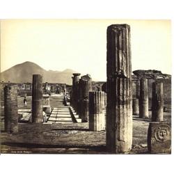 Foro civile di Pompei - Fotografia originale d`epoca di fine `800