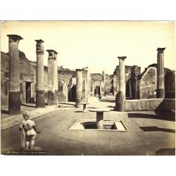 Pompei. Casa di Marco Olconio - Fotografia originale d`epoca di fine `800
