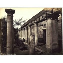 Ercolano, Casa di Argo - Fotografia originale d`epoca di fine `800