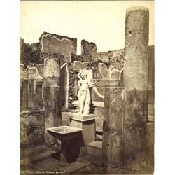 Casa del Balcone pensile, Pompei - Fotografia originale d`epoca, fine `800