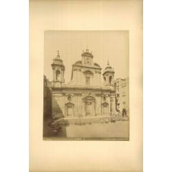 Fotografia d`epoca, fine `800 - Chiesa dei Girolamini, esterno, Napoli.
