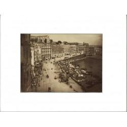 Fotografia d`epoca, fine `800 - Strada Santa Lucia, Napoli