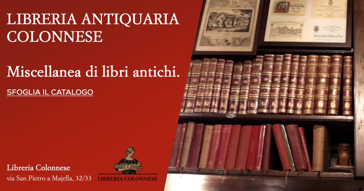 catalogo libri antichi